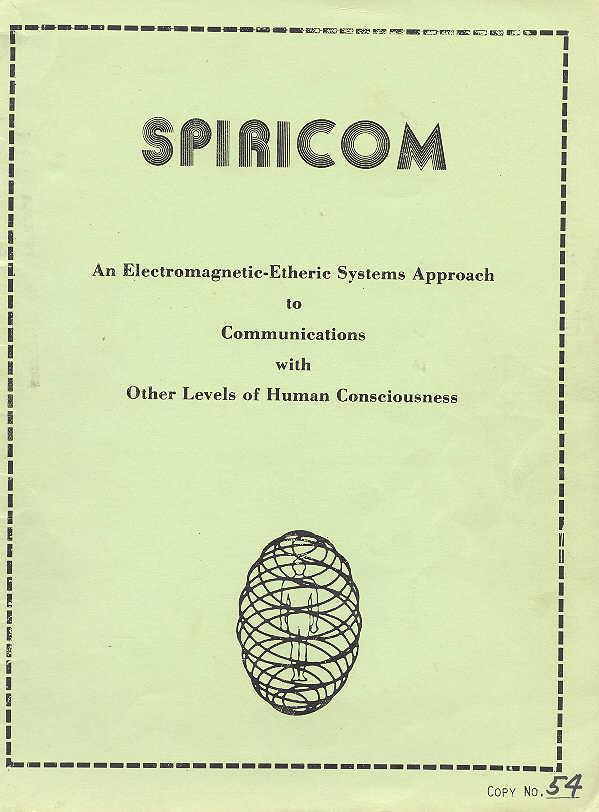 SPIRICOM mark 4 geschreven door Goerge Meek