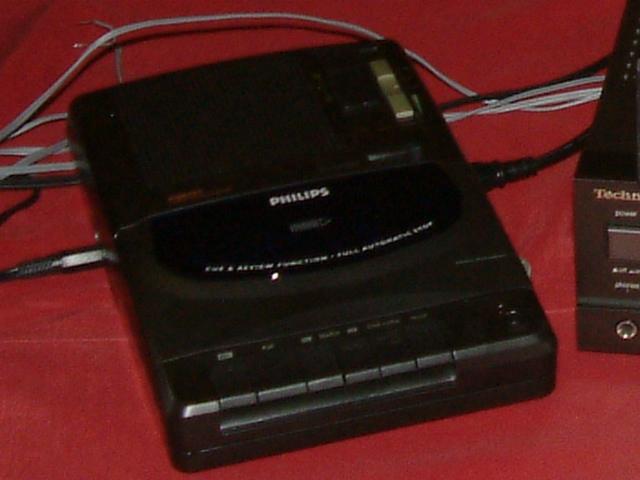 een cassetterecorder